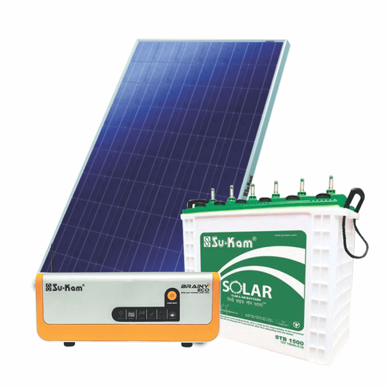Sukam 1 kw off grid solar system for homes, 10 Hours Backup with  Installation - PowerSolutionMall.com